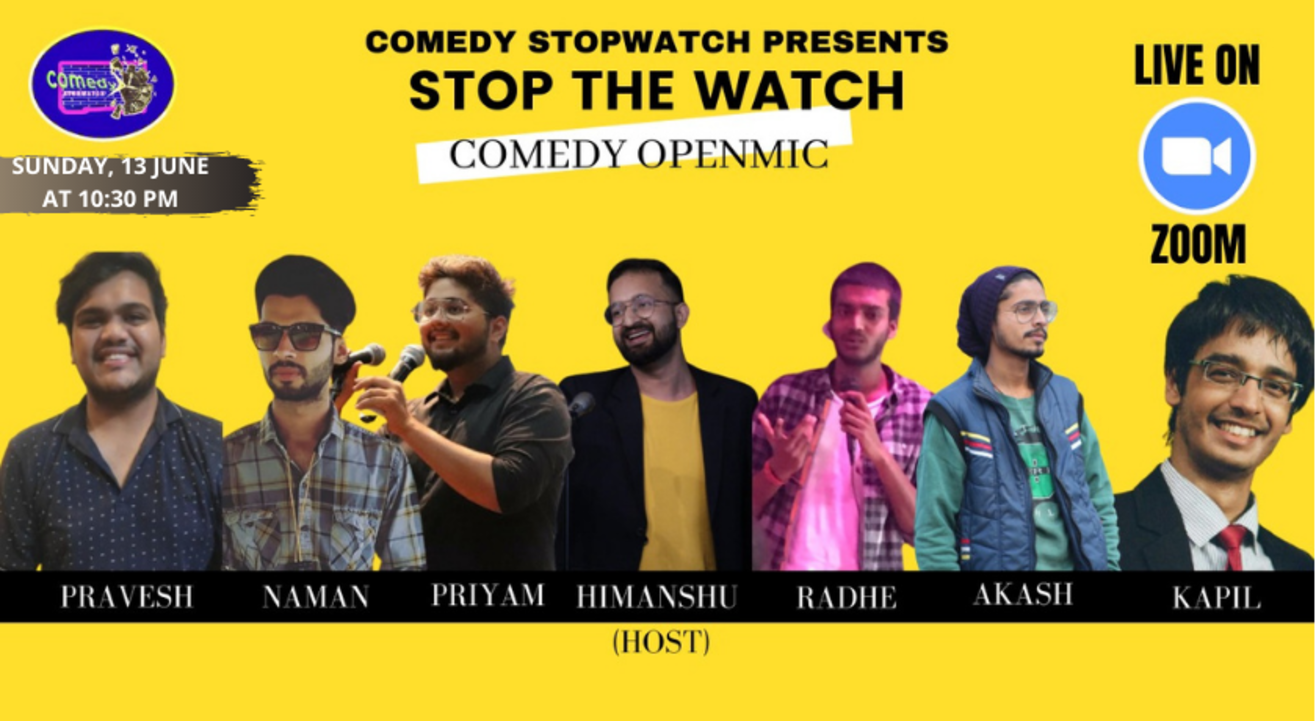 STOP THE WATCH COMEDY OPEN-MIC