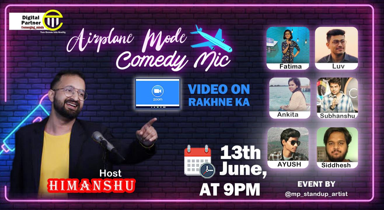 Airplane Mode|Comedy Mic|Hosted by Himanshu Lohani