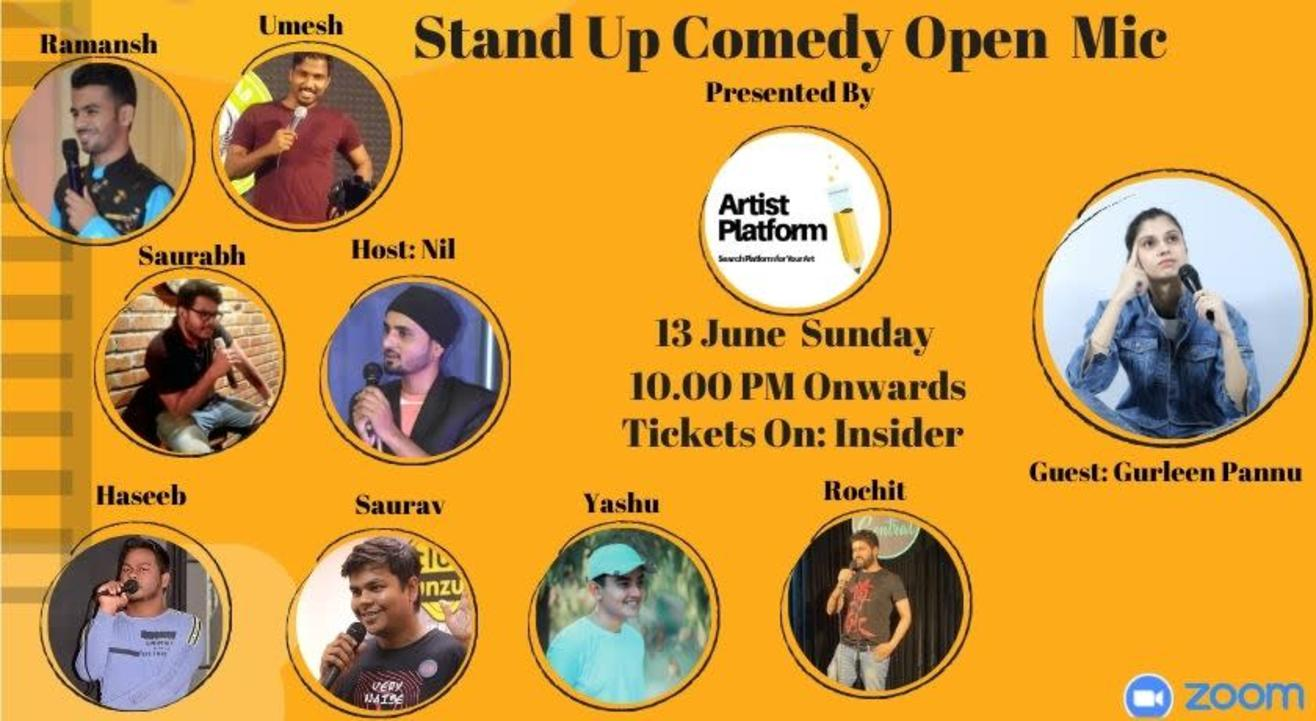 Stand Up Comedy Open Mic - Guest Gurleen Pannu