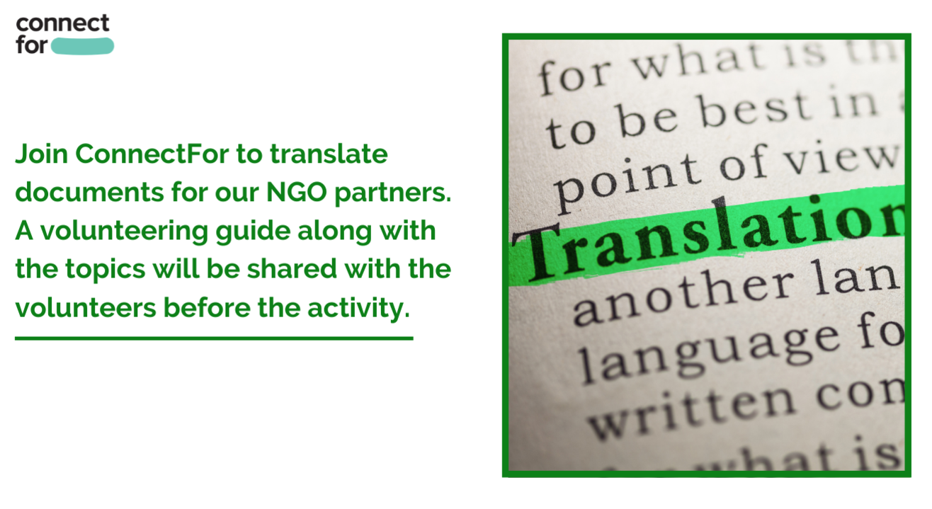 Volunteer to translate stories of change for an NGO
