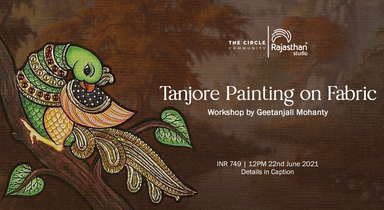 Tanjore Painting on Fabric by The Circle Community