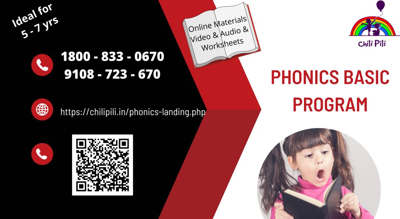 BASIC PHONICS @ CHILIPILI(5 - 7 YRS)