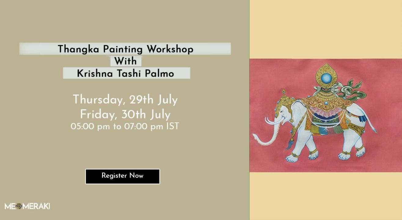 ONLINE THANGKA PAINTING WORKSHOP WITH KRISHNA TASHI PALMO