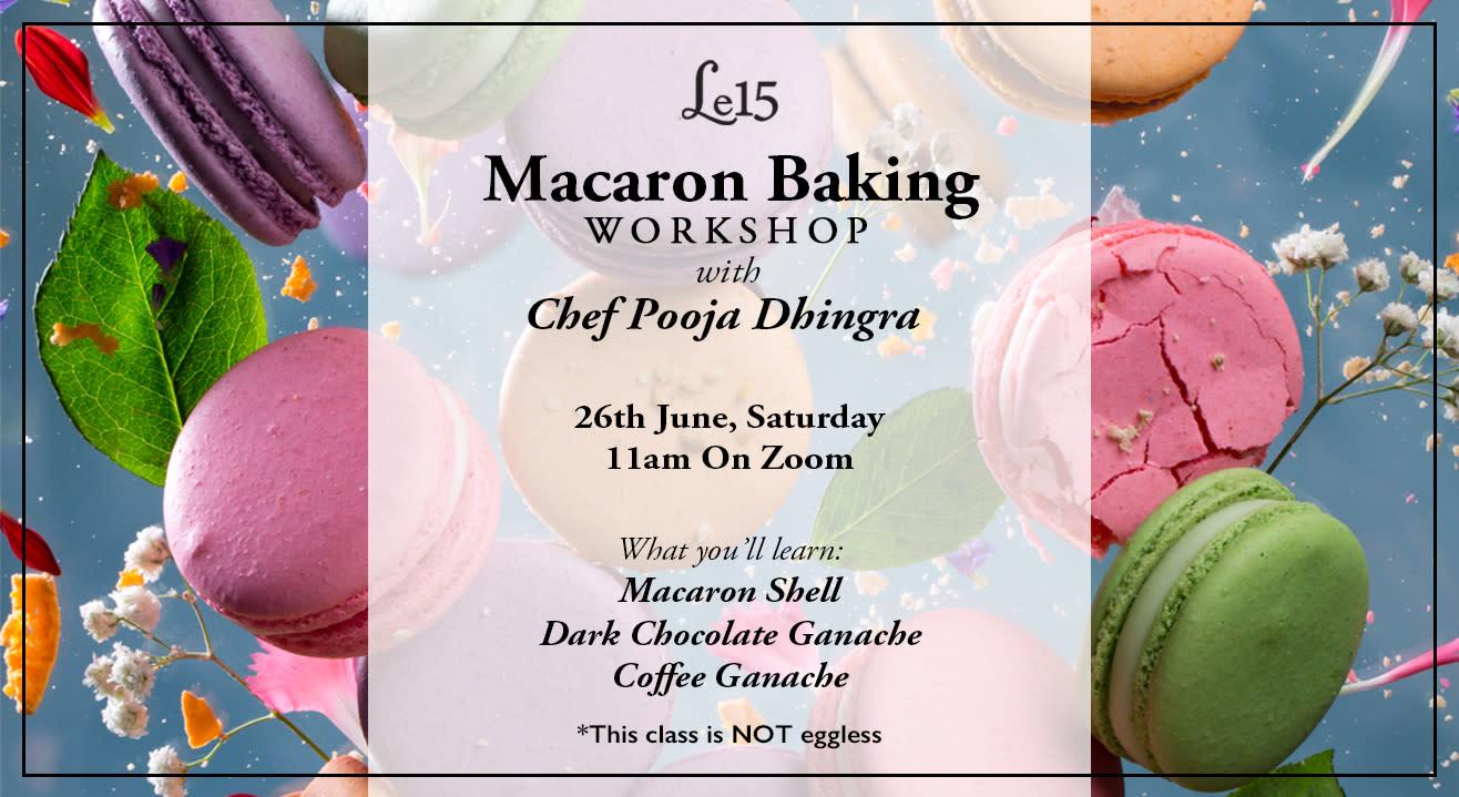 Macaron Baking Workshop with Chef Pooja Dhingra