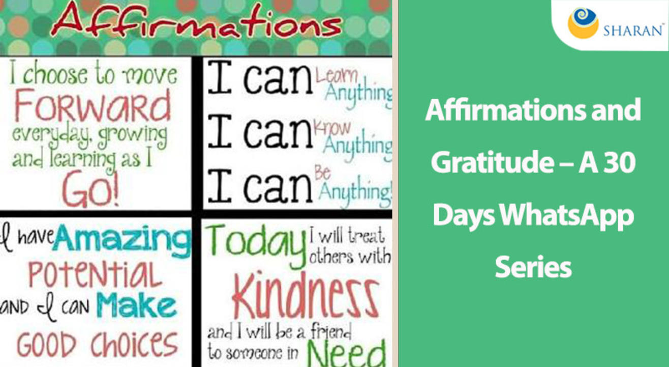Affirmations and Gratitude – A 30 Days WhatsApp Series