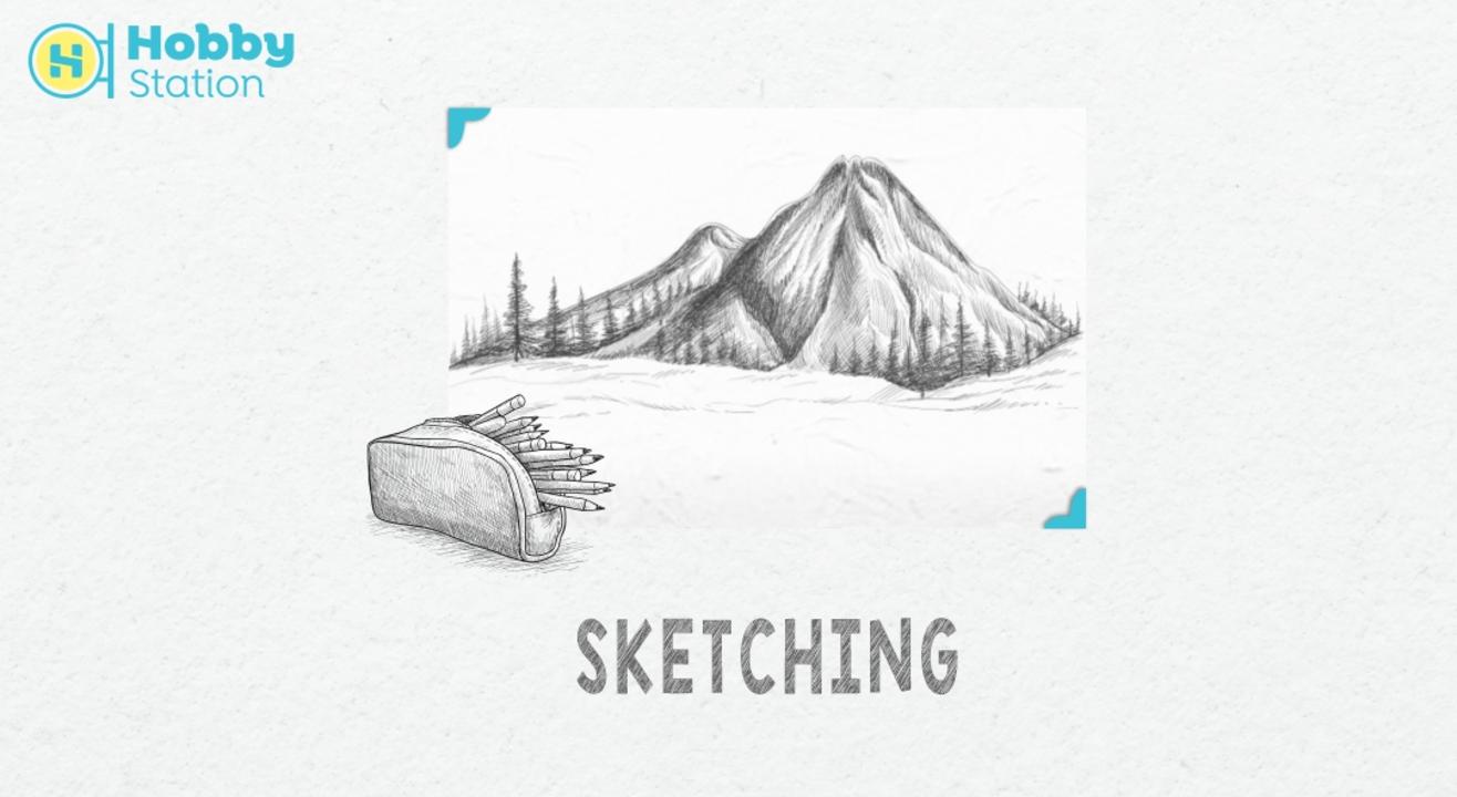 HobbyStation - Pencil Sketching For Kids (6-13 Yrs)