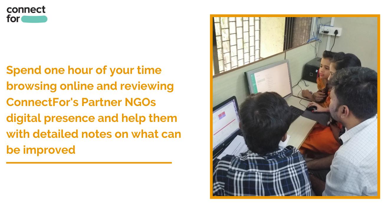 Volunteer to help an NGO analyze their digital presence