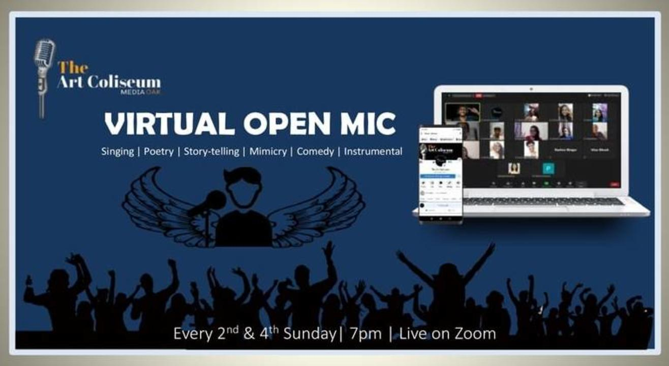 Virtual Open Mic with TAC Media Oak At Every 2nd & 4th Sunday On Zoom App