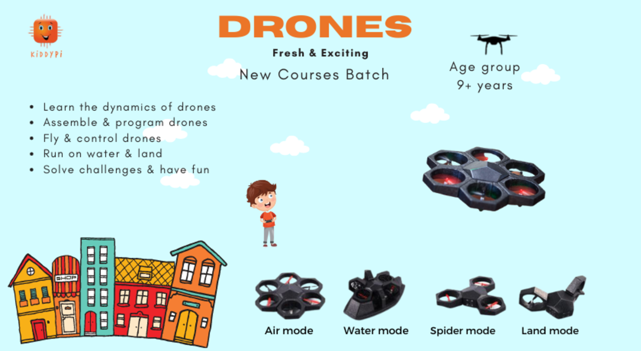 Drones & Coding Magic by KiddyPi