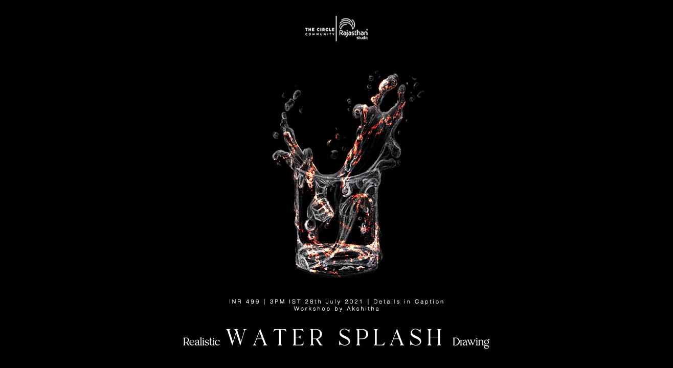 Realistic Water Splash Drawing Workshop by The Circle Community