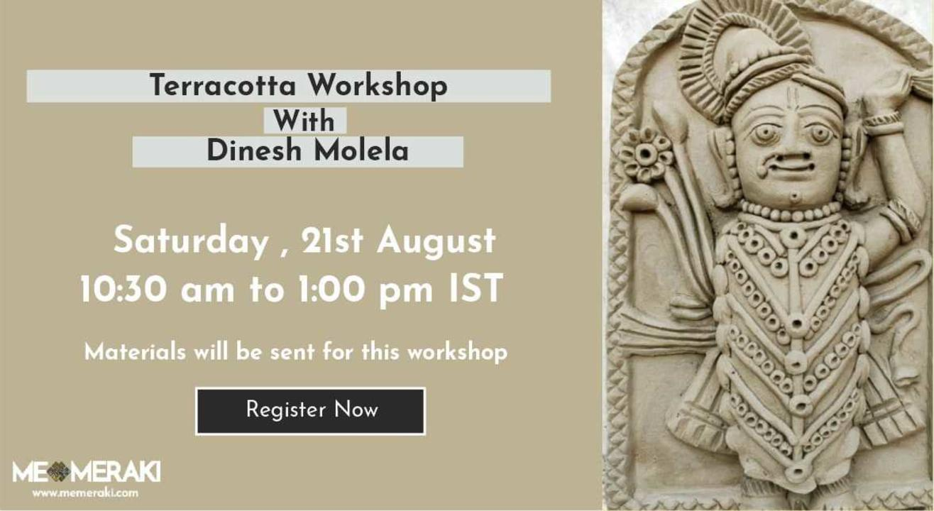 ONLINE TERRACOTTA WORKSHOP WITH DINESH MOLELA (WITH MATERIALS)