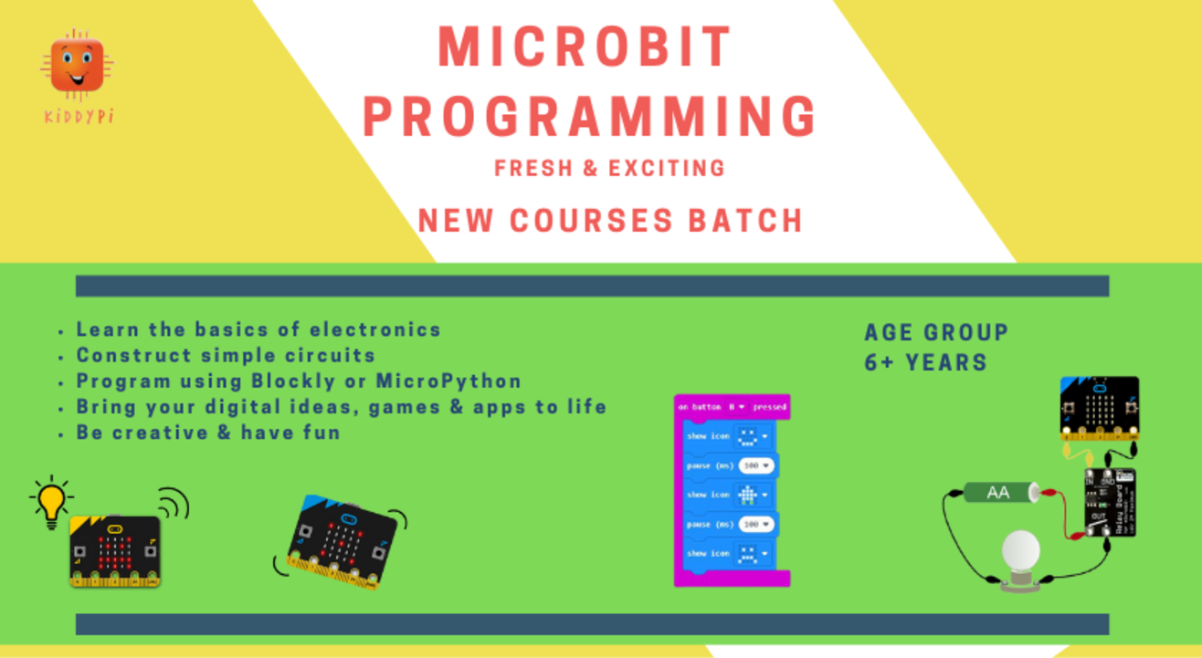 Electronics with Micro:bit Coding by KiddyPi