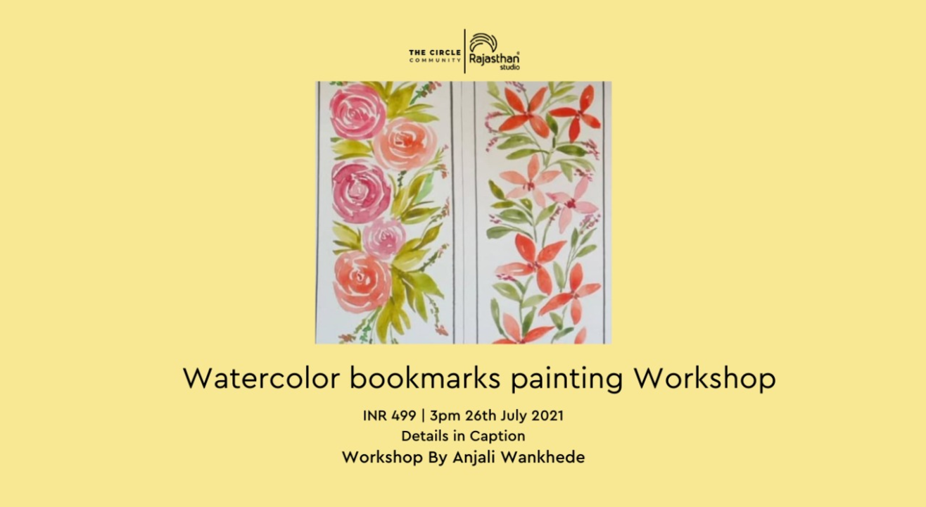 Watercolour bookmarks painting Workshop by The Circle Community