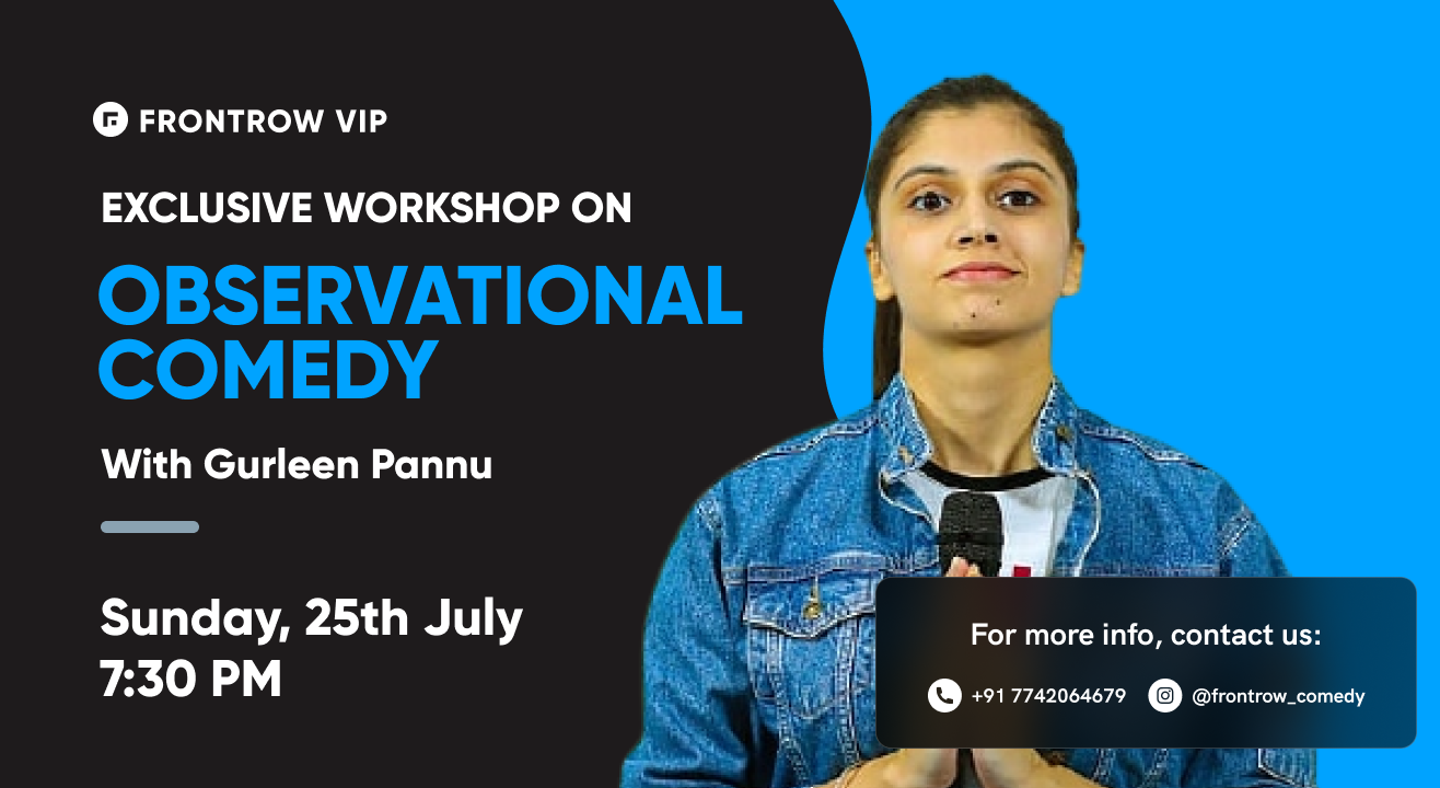 FrontRow VIP | Observational Comedy Workshop