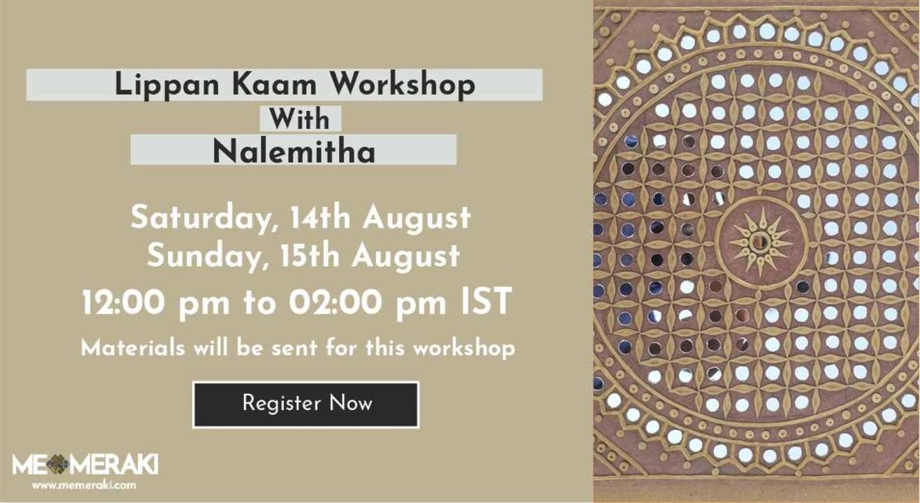 ONLINE LIPPAN KAAM / MUDWORK WORKSHOP BY NALEMITHA (WITH MATERIALS)