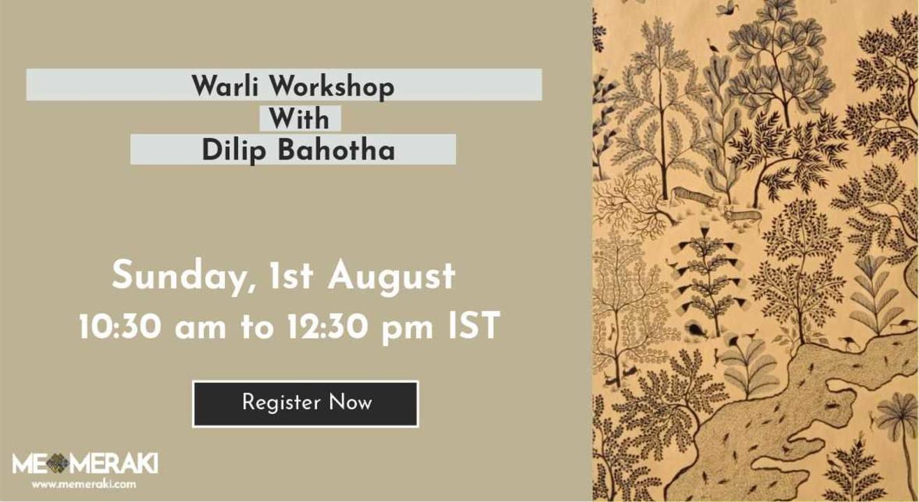 ONLINE WARLI WORKSHOP WITH DILIP BAHOTHA