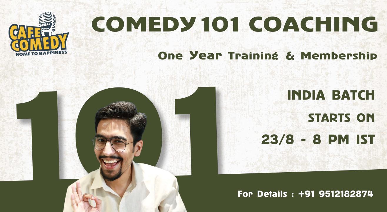 Comedy 101 Coaching : 1 Year Long Training & Membership
