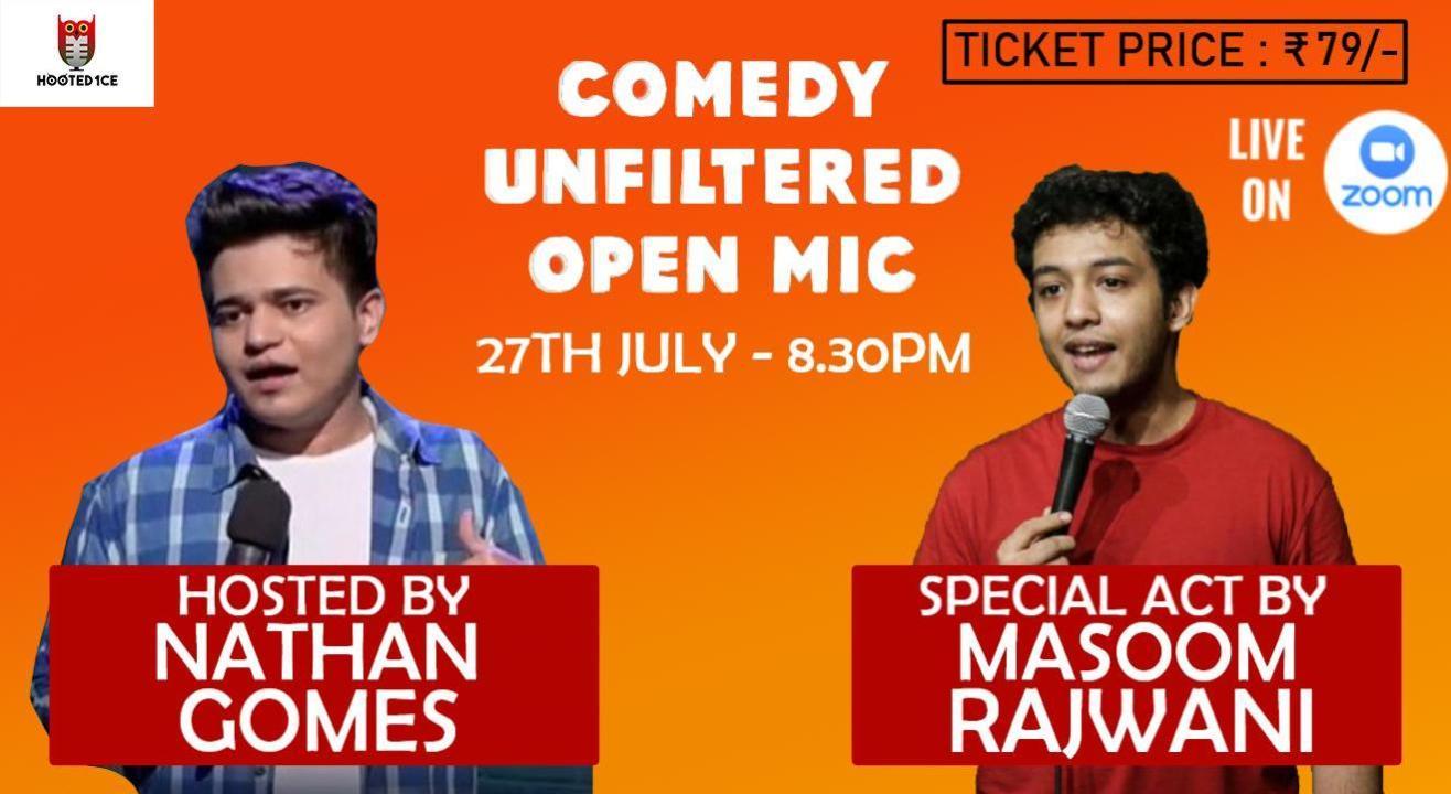 Comedy Unfiltered Open Mic ft. Masoom Rajwani