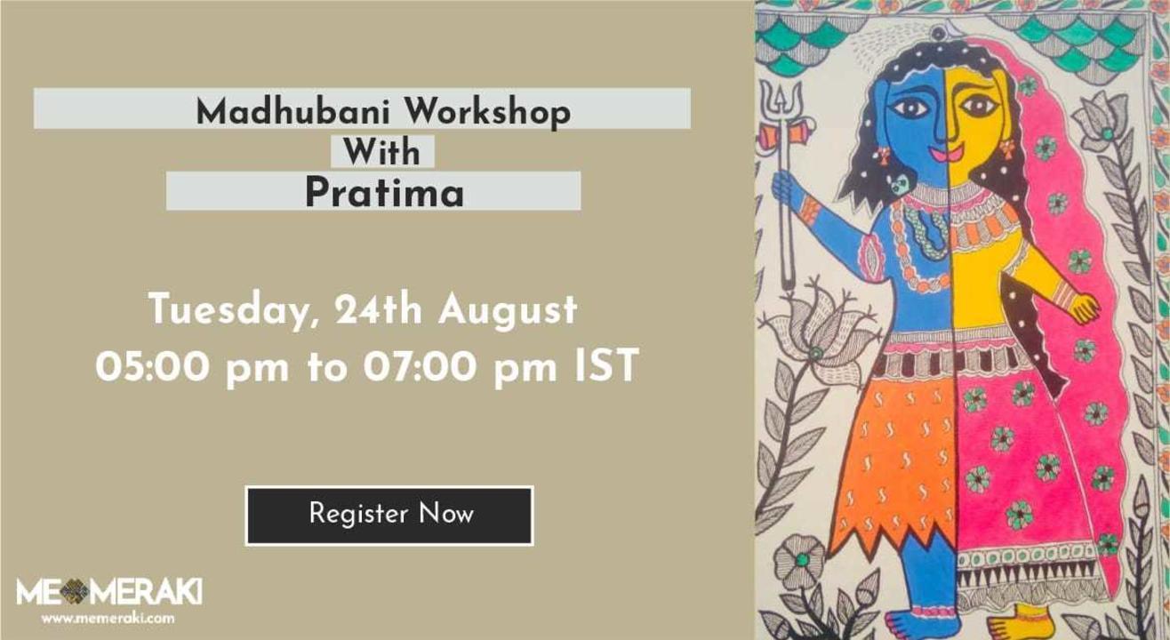 ONLINE MADHUBANI WORKSHOP WITH PRATIMA BHARTI