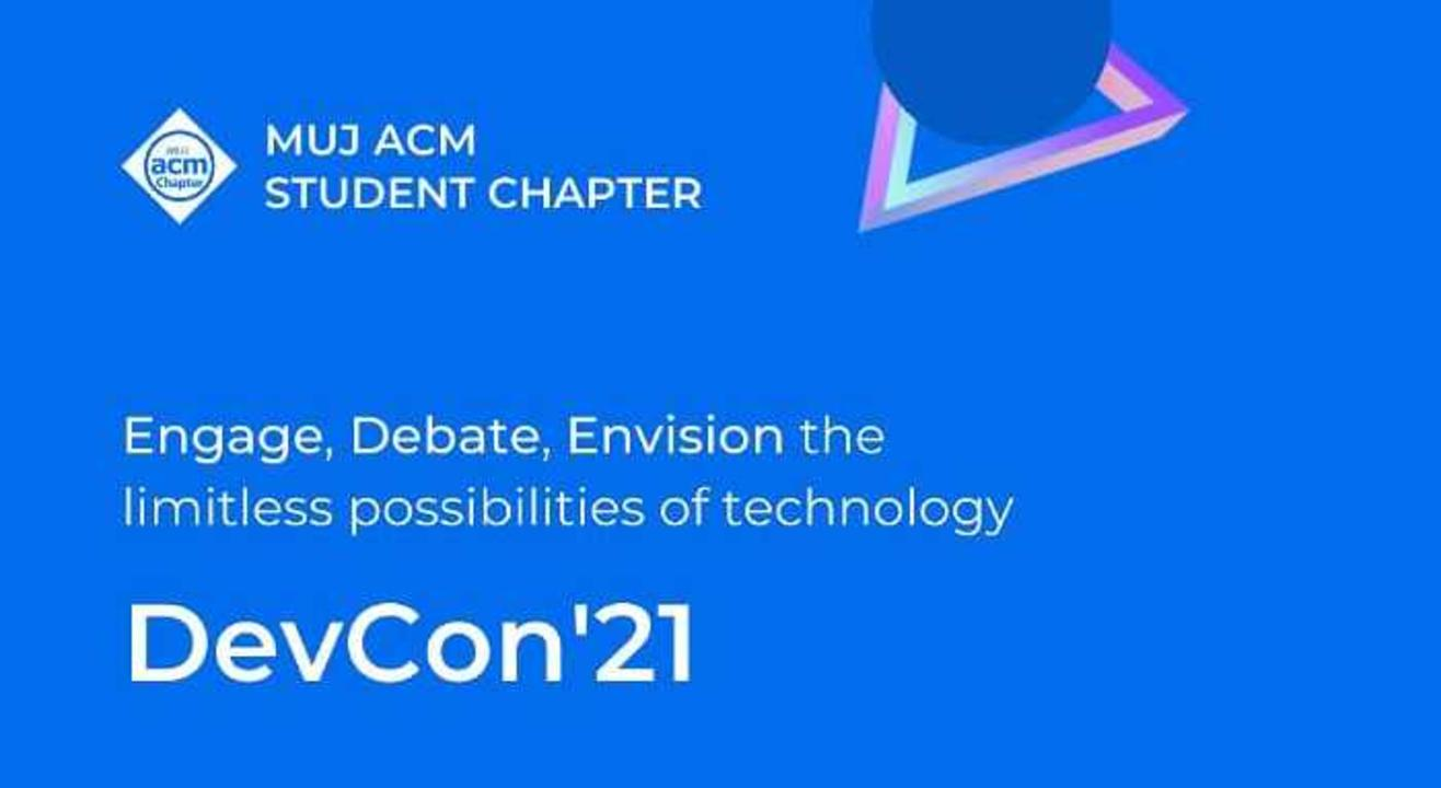 DevCon '21 by MUJ ACM Student Chapter