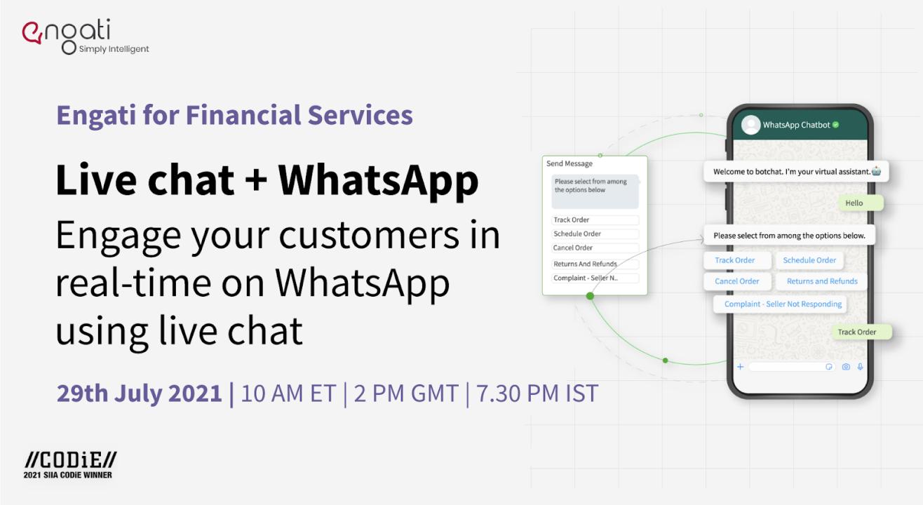 Live chat + WhatsApp