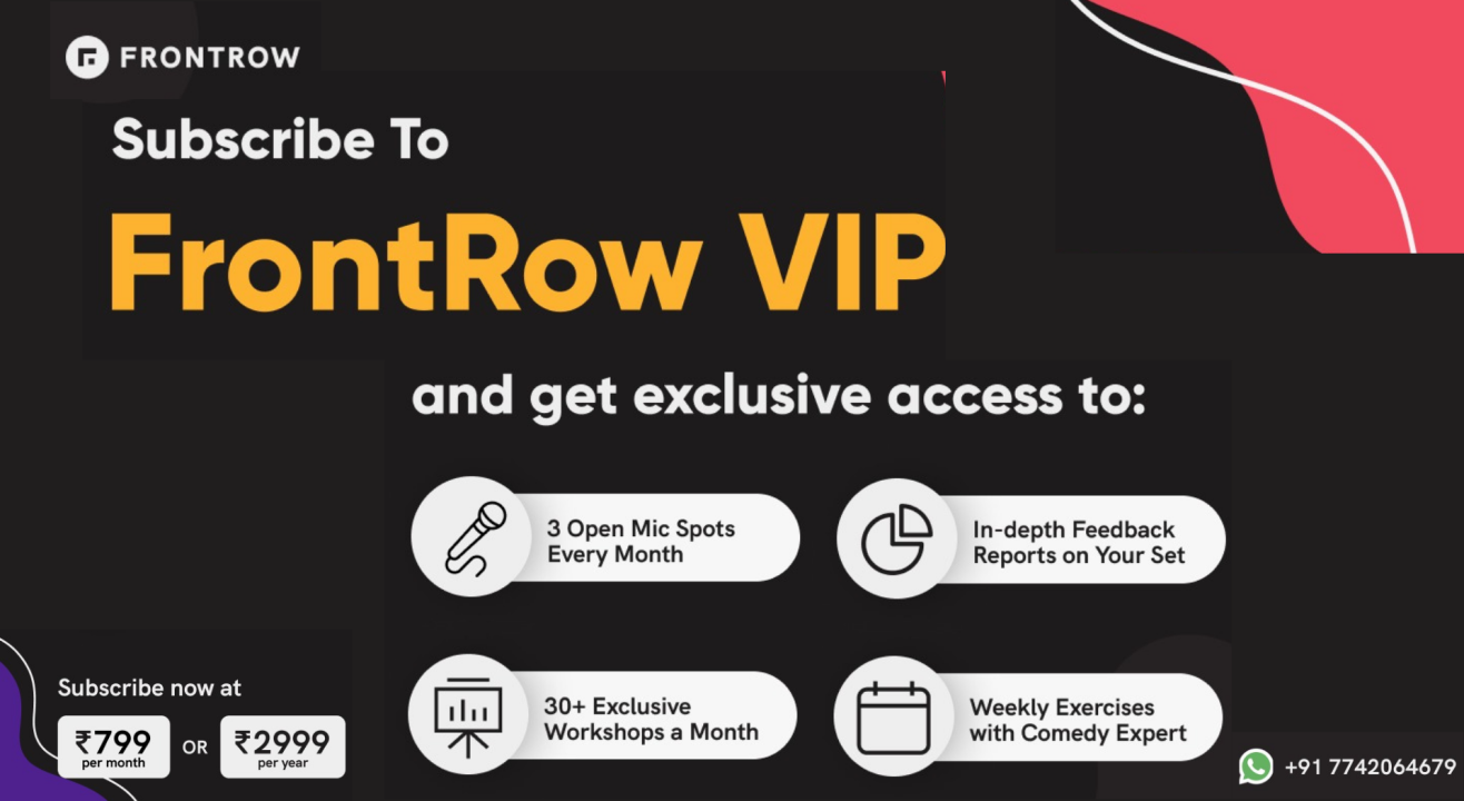FrontRow VIP Program | Monthly Subscription