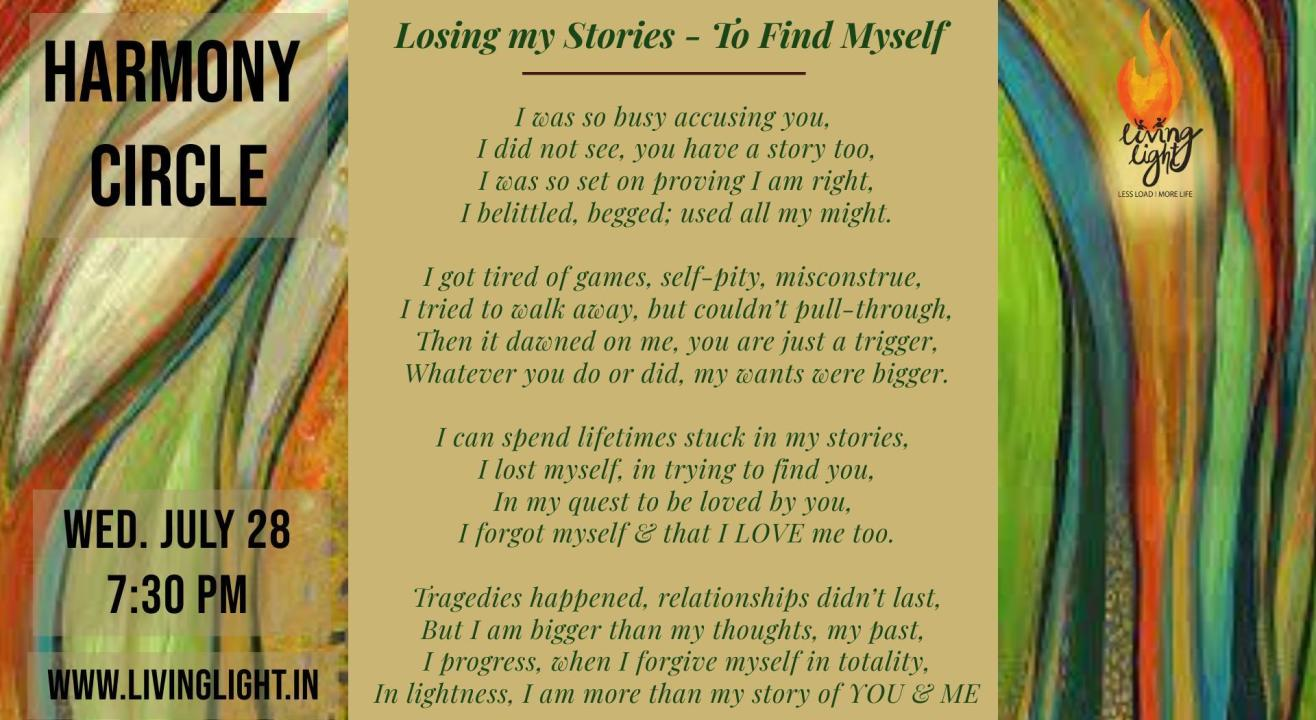 """Sharing Circle #49 on ~ """"Losing my Stories to find Myself"""""""