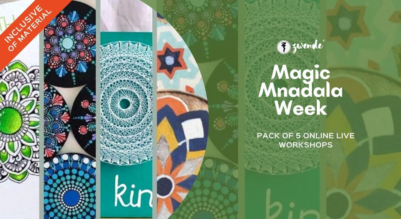 A Week of Mandala Magic! [Pack of 5 online live workshops]