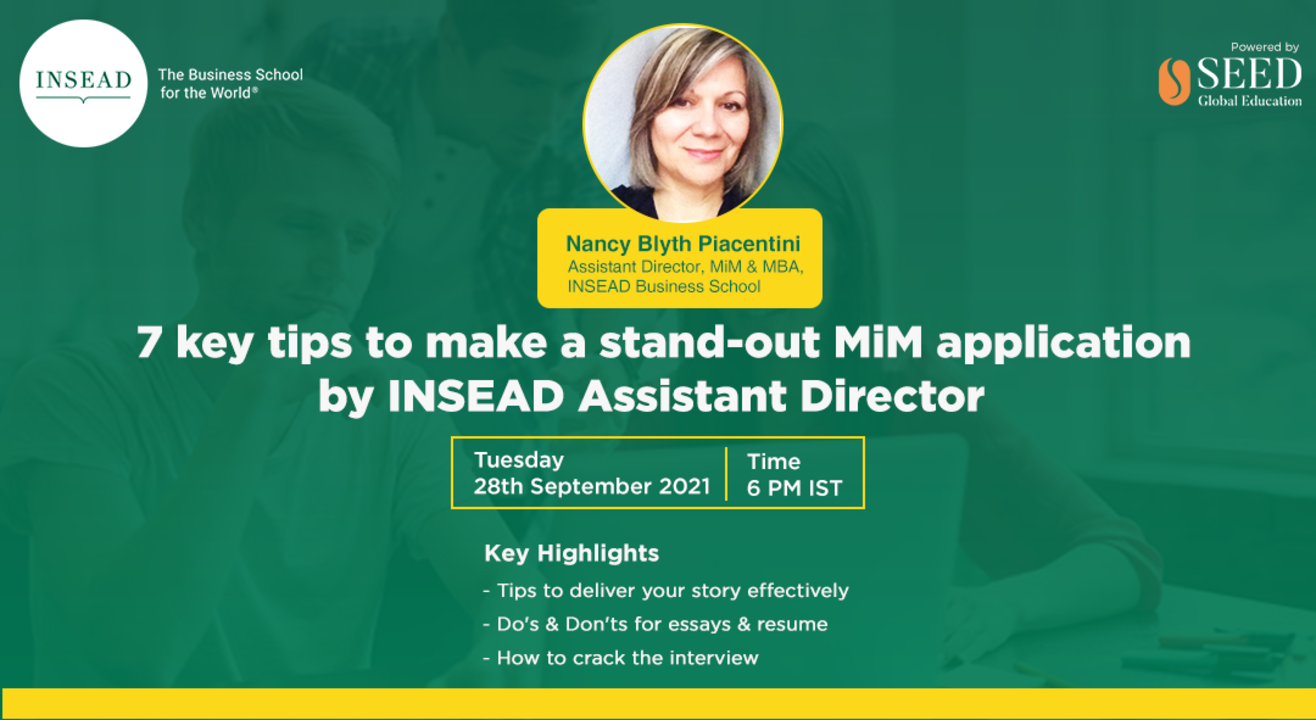 7 key tips to make a stand-out MiM application by INSEAD Assistant Director