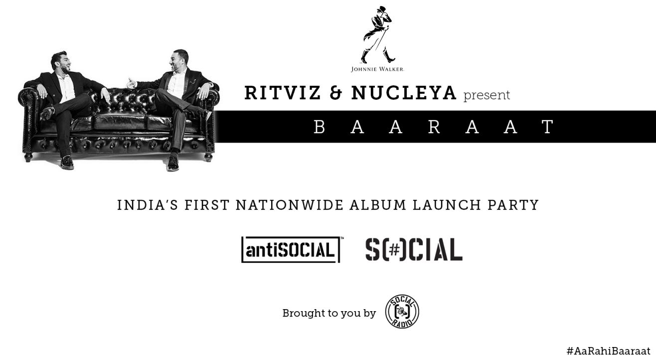 BAARAAT Album Launch Party Announced - Nucleya aur Ritviz ke saath #AaRahiBaaraat