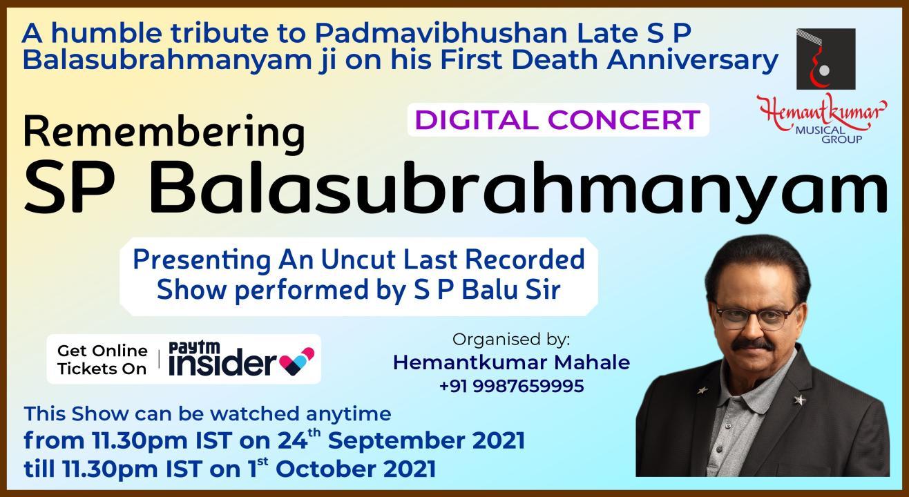 Remembering SP Balasubrahmanyam