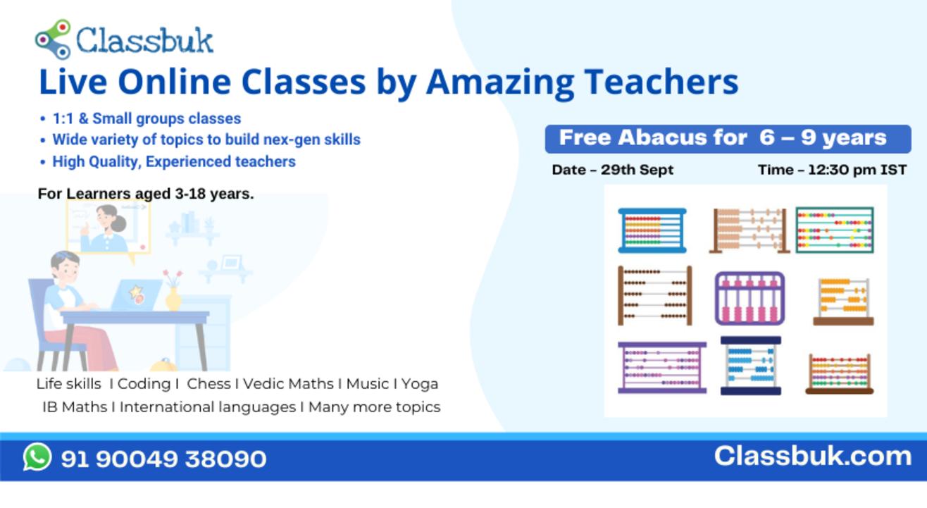 #Free Online Class with Classbuk.com