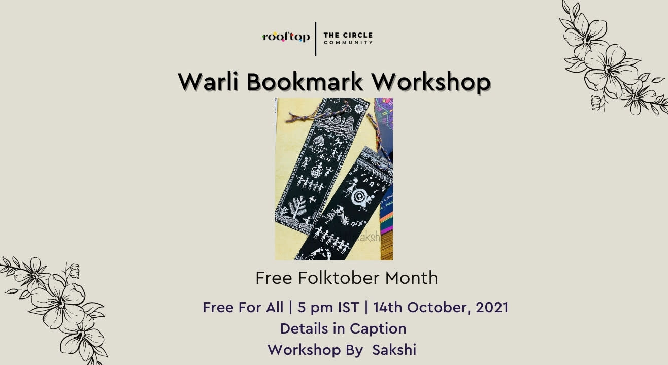 Warli Bookmark Workshop- Free Folktober Month Special Workshops