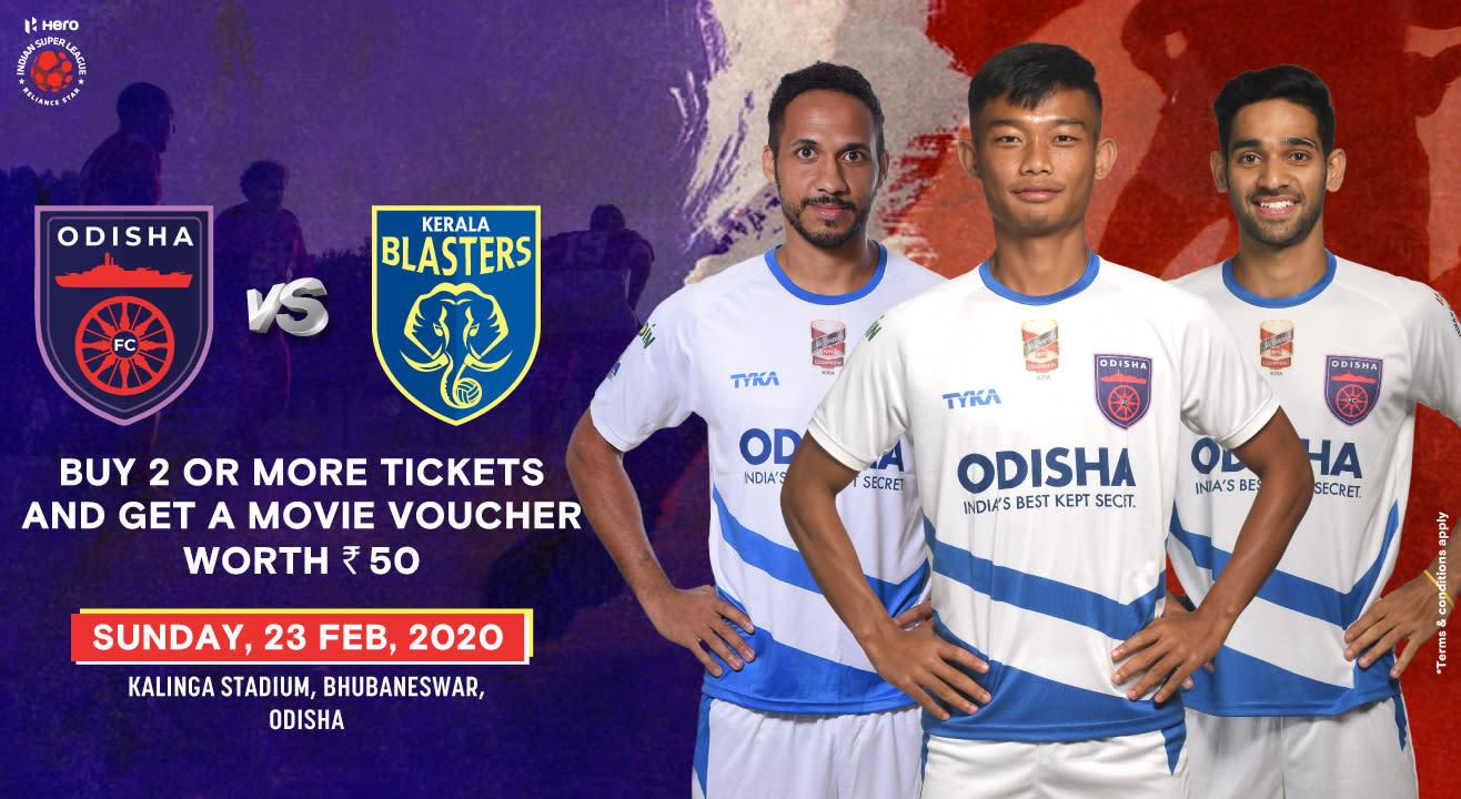 Official Ticketing Partner - Odisha FC vs Kerala Blasters ...