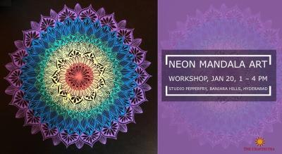 Neon Mandala Art Workshop