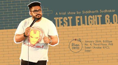 Test Flight 6.0 - A StandUp Trial Show by Siddharth Sudhakar
