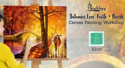 'Autumn Love' Knife + Brush Canvas Painting Workshop