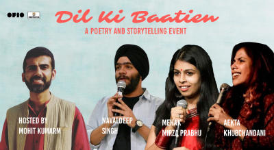 Dil Ki Baatien – A storytelling and Poetry  Event.