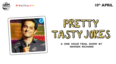 Grin Revolution: Pretty Tasty Jokes w/ Naveen Richard