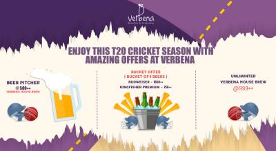 Cricket Live Screening: Verbena Offer!
