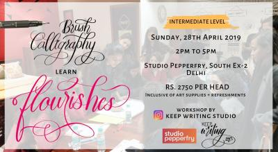 Brush Pen Calligraphy  Workshop- South Ex-2