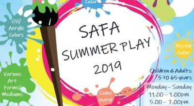SAFA Summer Play 2019