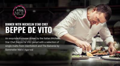 Dinner with Michelin Star Chef Beppe De Vito