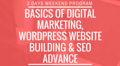 Basics Of WordPress & SEO Advance Training