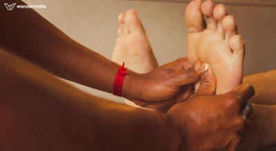 Ayurvedic foot massage in Munnar - Pada Marma Abhyanga foot reflexology | Wandertrails