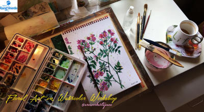 Floral Art in Watercolor Workshop