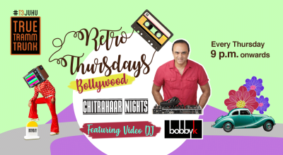 Retro Bollywood every Thursday with Video DJ Bobby K at True Tramm Trunk!