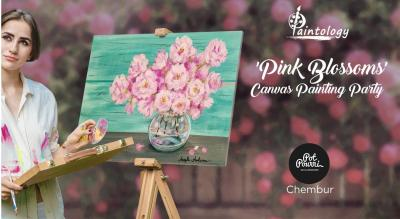 'Pink Blossoms' Canvas Painting Party by Paintology