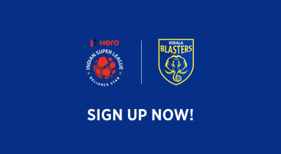 Sign up for future match updates: Kerala Blasters FC in ISL 2018-19