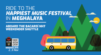 Shuttle to Bacardi NH7 Weekender, Meghalaya